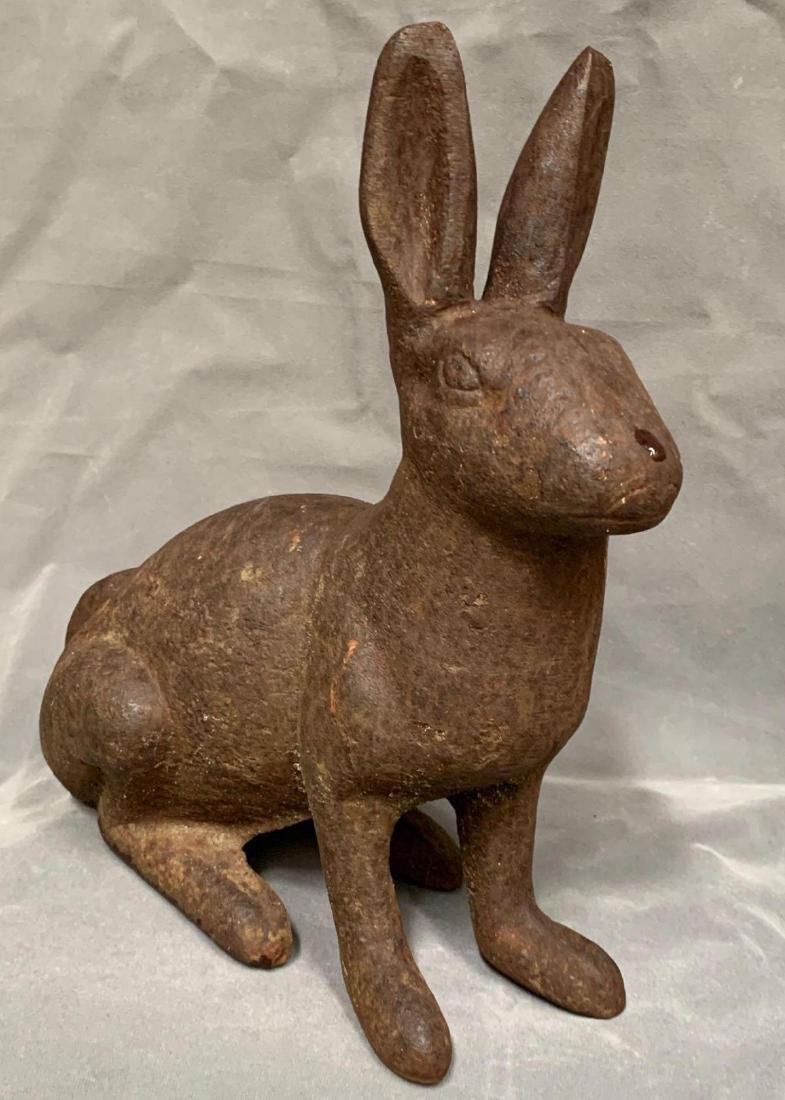 Antique Cast Iron Rabbit Doorstop