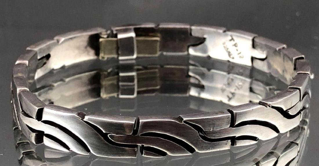 Heavy Modernist Sterling Silver Bracelet