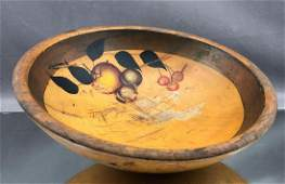 19th Century American Folk Art Painted and Turned