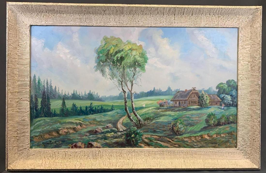 Stanley Raubertas, California Landscape, Large Oil on