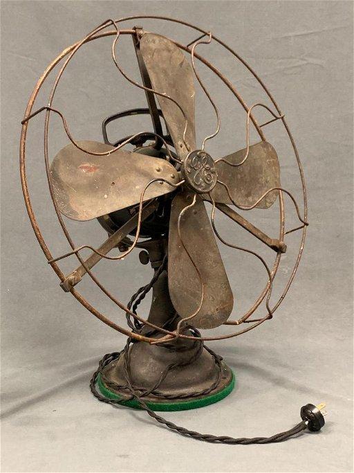 Vintage General Electric Cast Iron Fan