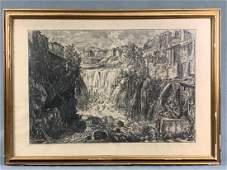"""""""Veduta Della Cascata Di Tivoli"""", Giovanni Battista"""