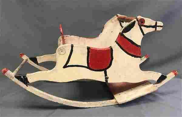 Antique Folk Art Rocking Horse