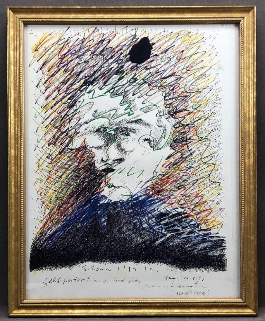 """""""Self Portrait On A Bad Day"""" Crayon & Ink, Jerry"""