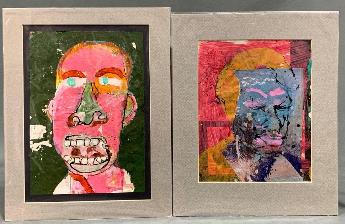 """Kevin Keeney, Lot of Two Works on Paper, """"Inner"""
