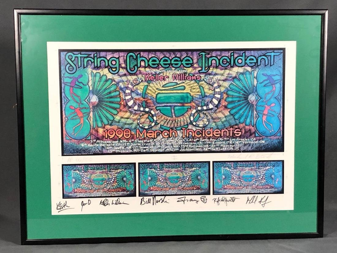 String Cheese Incident All Band Member Signed Framed
