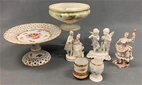 Lot of Seven Antique  Vintage Porcelain Limoges And