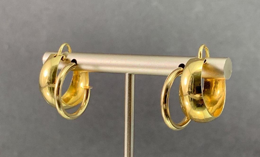 Two Pair 14K Gold Earrings