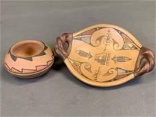Two Pieces Of Vintage Santa Clara Pottery