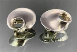 Georg Jensen Mid Century Modern Earrings