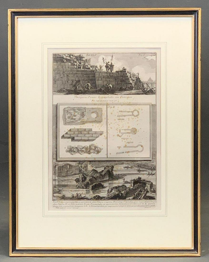 Bivoanni Battista Piranesi 18th Century Etching