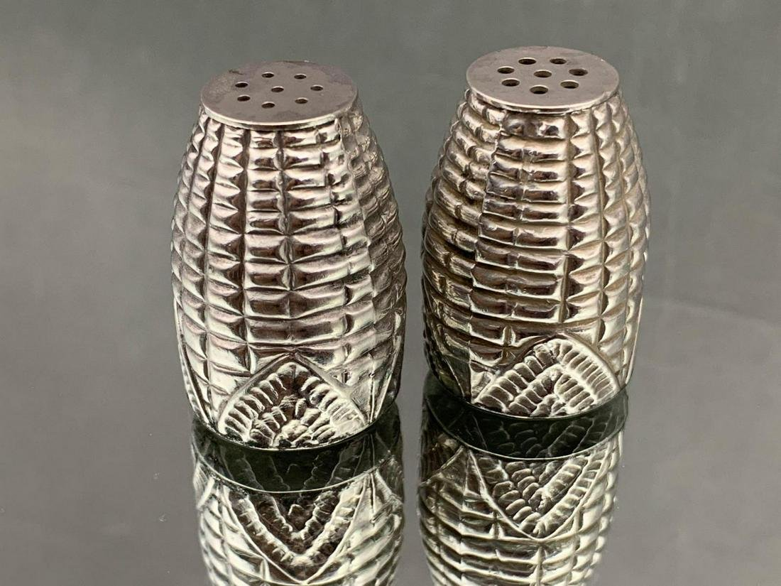 950 Silver Salt And Pepper Shakers
