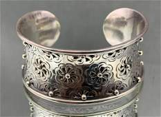 Sterling Silver Designer Cuff Bracelet With Beautiful