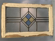 Antique Arts And Crafts Stained Glass Window With