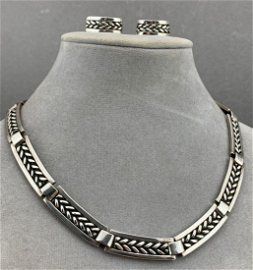 Sterling Silver Georg Jensen Denmark Necklace And