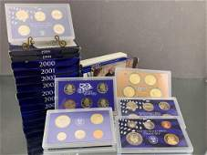 10 United States Mint Proof Sets 1999-2007