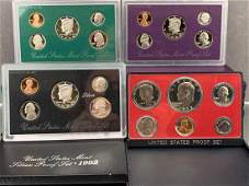 14 United States Mint Proof Coin Sets 1973-1998,