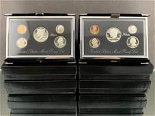 4 United States Mint Premier Silver Proof Sets,