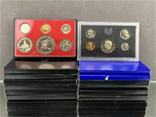 12 United States Proof Sets, including 2 1972, 1 1973,
