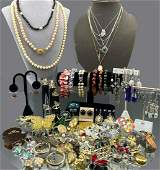 Large 124 Piece Costume Jewelry Lot