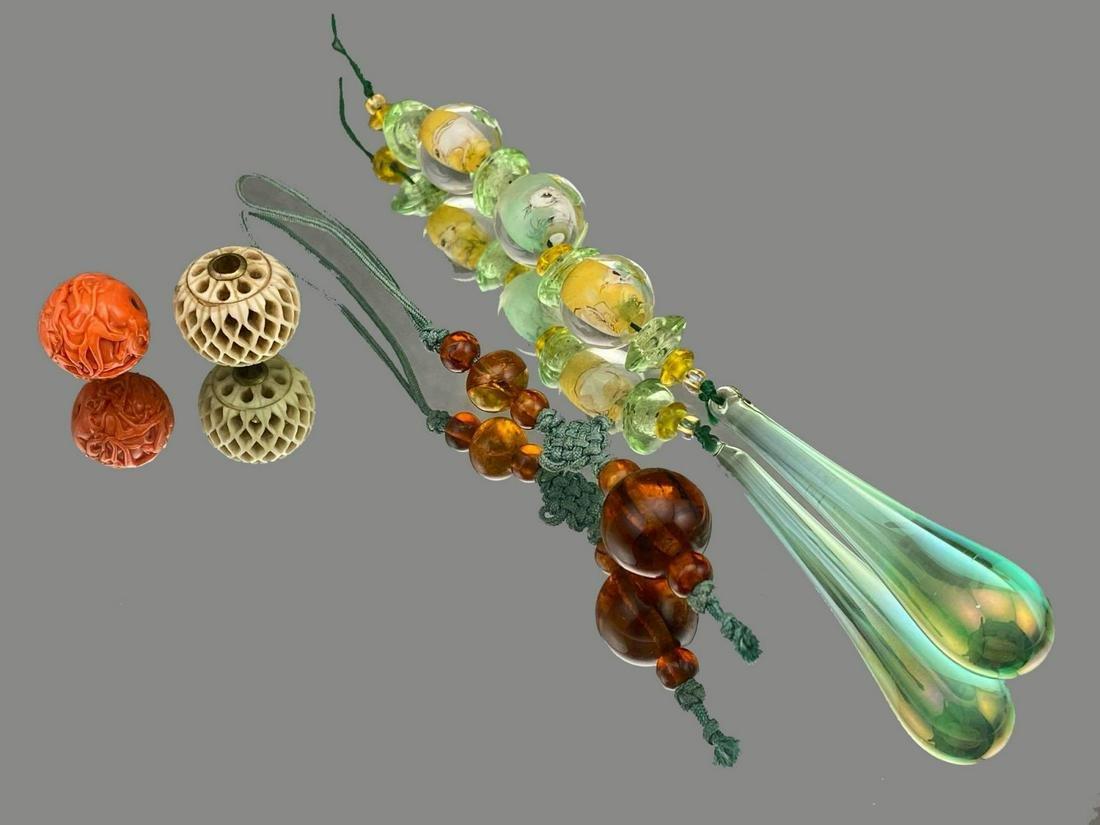 Japanese Ojime Beads Meji Era 1862-1912