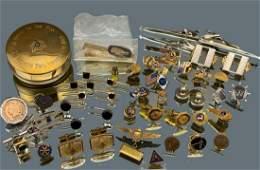 50 Piece Man Lot Including 10k Gold, Sterling Silver,