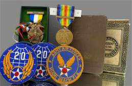 Grouping of World War II items to Include US Army Air
