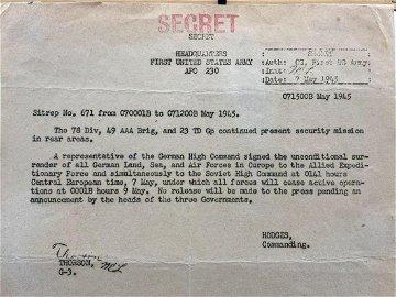 Rare WWllClassified Secret Document Detailing the