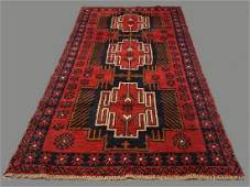 Afghan Camel Wool Tribal Rug in Deep Reds  Blues with