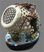 Chinese Reticulated Porcelain Crab Pot