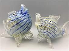 Two Murano Art Glass Fish