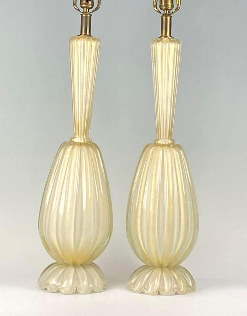 Phenomenal Pair ofMuranoArtGlass Table Lamps,