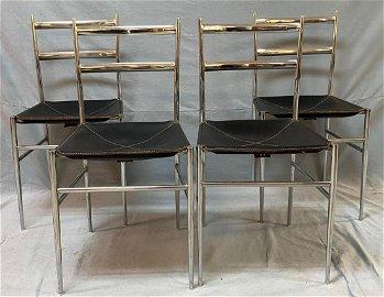 Set of Four Superleggera Dining Chairs, Gio Ponti,