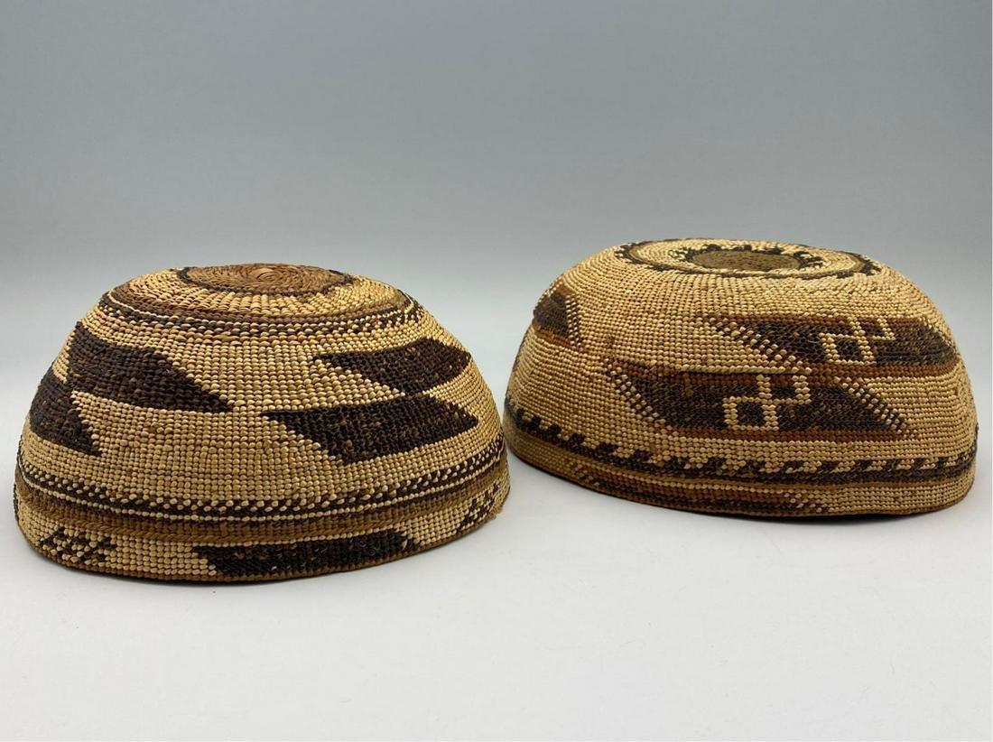 Two Older Native American HupaIndian Woven Caps