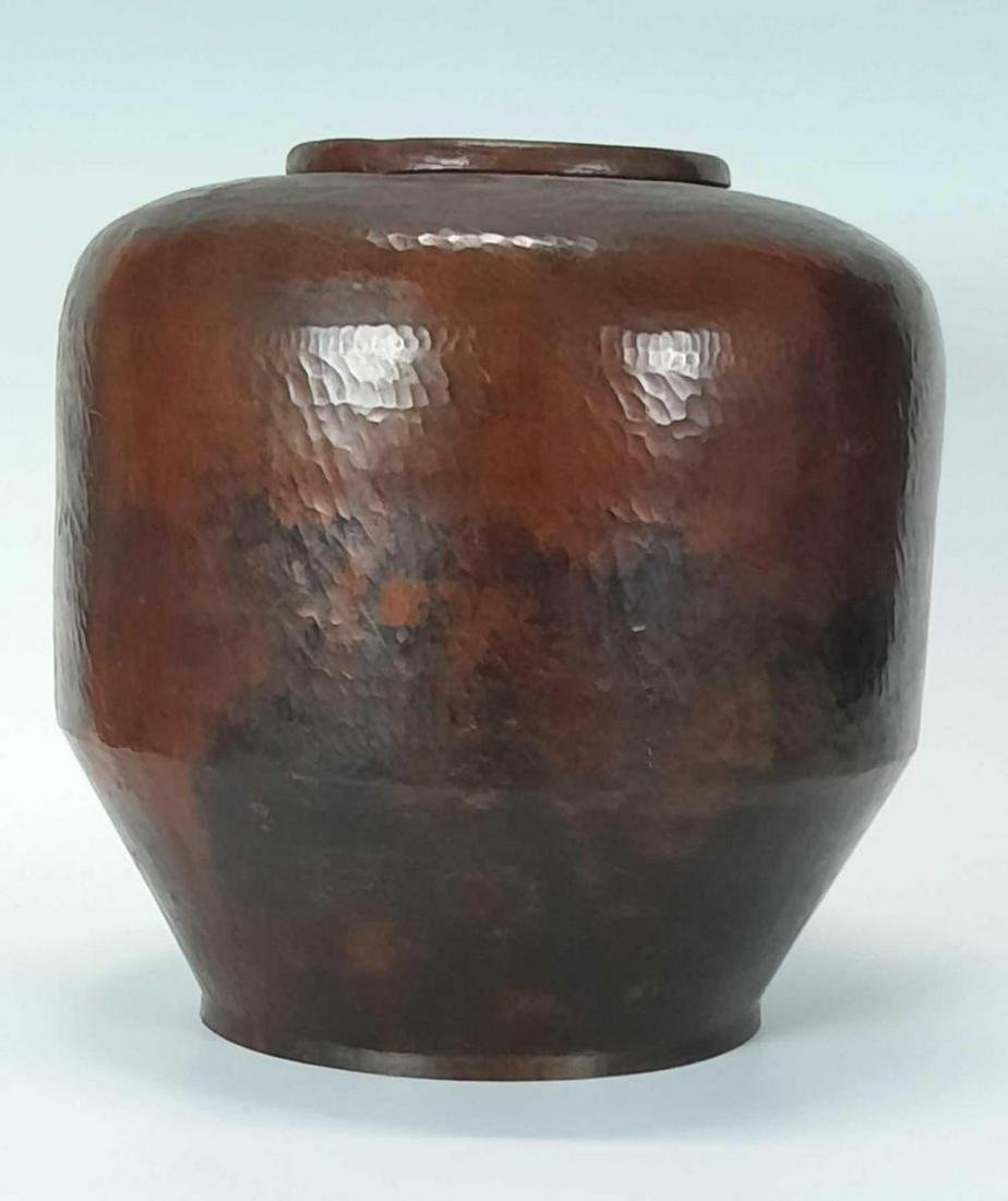 Hand Hammered Copper Pot or Vase, in the Arts and