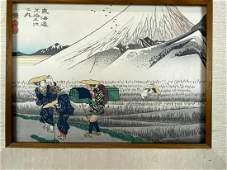 Tokaido Road at Hara Ando Hiroshige Ukiyoe Woodblock