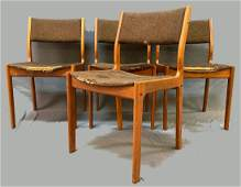 Set of 4 Danish Teak Dining Chairs, Danibo, Mid Century