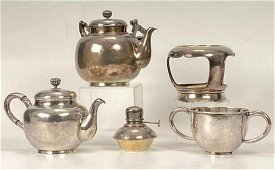 Japanese Sterling Silver Export Tea Set, 20th C.