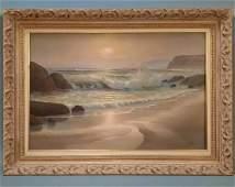 Maurice Meyer, Seascape, Sunset San Jose, Oil on Canvas