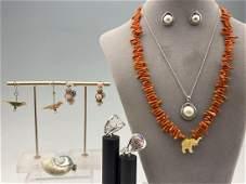 11 Piece 14K, Sterling Silver & Costume Jewelry Lot