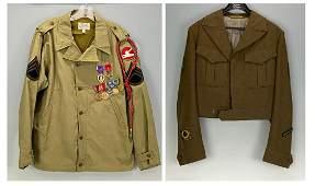 Two Military Jacketsw/ WWII Medals, Bronze Star, Purple