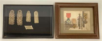 Framed Lot of WWI Medals and Ribbons with Photograph