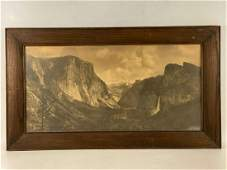 Two Large and Early Antique Yosemite Photographs,