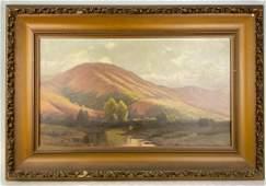 Gordon Coutts, California Plein Air Landscape, Oil on