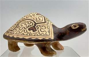 Peruvian Shipibo Pottery Turtle, Unknown Age