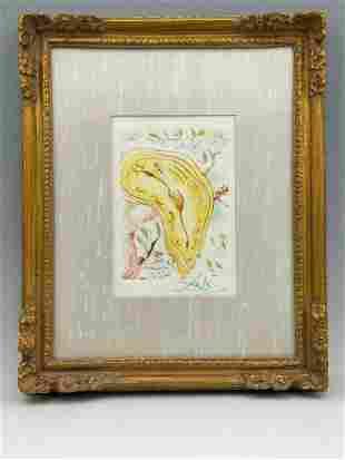 After Salvador Dali, Melting Clock, Lithograph on Paper