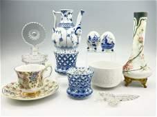 Lot of European Porcelain, Including Bjorn Winblaad