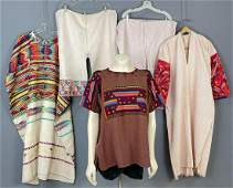 3 Vintage Mesoamerican Huipils and 2 Pants