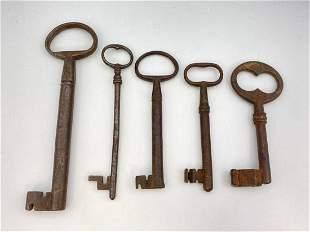 Lot of Large Antique Skeleton Keys
