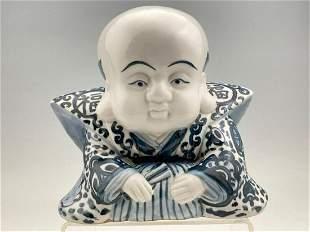 Chinese Blue and White Porcelain Buddha